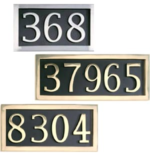 Cast Brass and Aluminum Address Plaques
