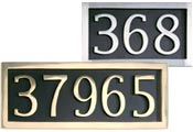 Cast Brass Address Plaque
