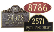 Whitehall Metal Address Signs
