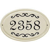 Classic Scroll Oval Plaque