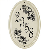 Dogwood Oval Vertical Plaque