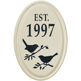 Bird Silhouette Oval Plaque