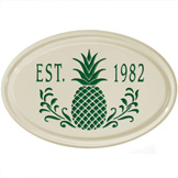 Pineapple Oval Plaque
