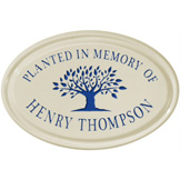 Tree Memorial Oval Plaque