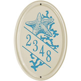 Starfish Oval Vertical Plaque