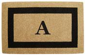 Single Border Coir Monogram Doormat
