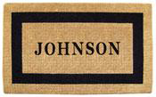 Single Border Personalized Coir Doormat