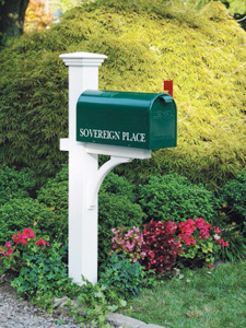Cedar Stained Mailbox Post