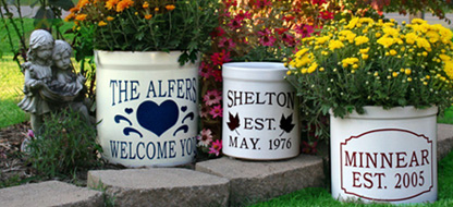 Personalized Crocks and Planters