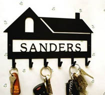 Personalized House Key Rack