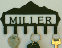 Personalized Mountain Key Rack