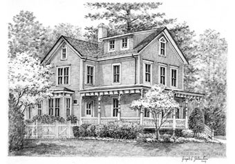 Black And White House Sketches