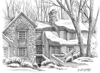 House Sketch House Drawing
