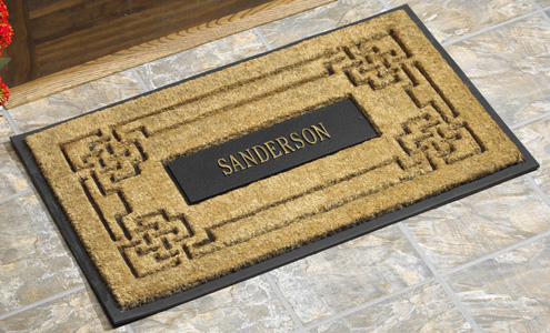 Personalized Rubber Backed Coir Doormats