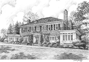 original house drawings sketches and stationery roland s